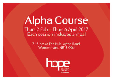 Alpha Course Starting 2 February 2017