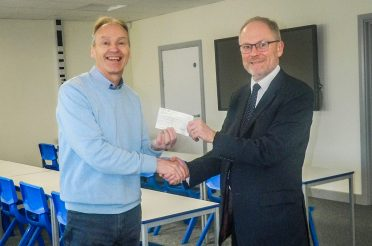 Cheque Presentation to Wymondham Academy