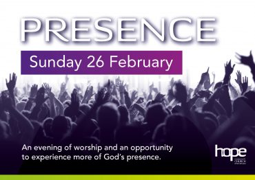 Presence – Sunday 26 February, 7.30pm, The Hub
