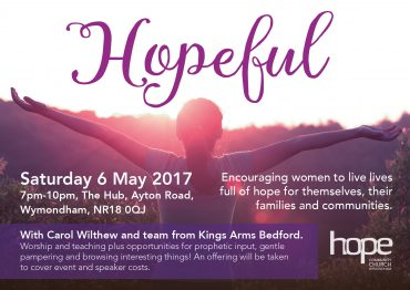 Hopeful – Saturday 6 May, 7pm, The Hub