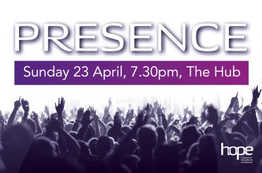 Presence – Sunday 23 April, 7.30pm, The Hub