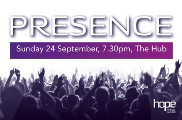 Presence – Sunday 24 September, 7.30pm at The Hub