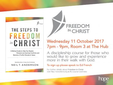 Freedom in Christ – Starts Wednesday 11 October 2017