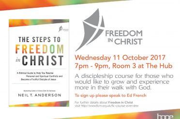 Freedom in Christ – Starts Wednesday 11 October 2017