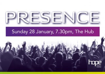 PRESENCE – Sunday 28 January 2018, 7.30pm, The Hub