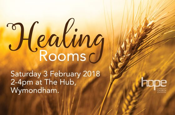 Healing Rooms – Saturday 3 Feb 18