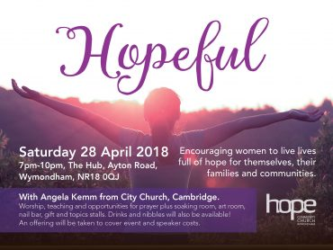 Hopeful- Saturday 28th April 2018