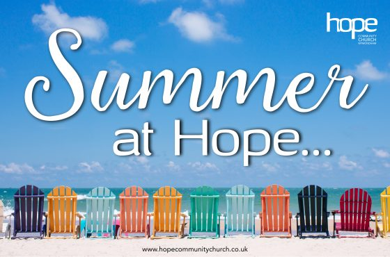 Summer 2018 Meeting Times at Hope