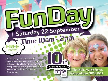 Hope 10th Anniversary Fun Day – Saturday 22 September 2018