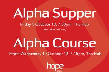 Alpha Supper & Alpha Course Autumn 2018