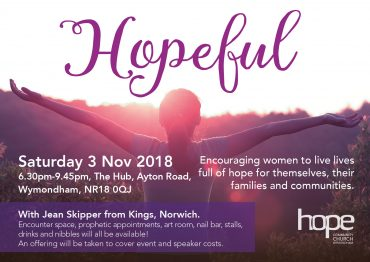 Hopeful – Saturday 3 November 2018