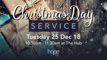 Christmas Day Service – Tuesday 25 Dec 18