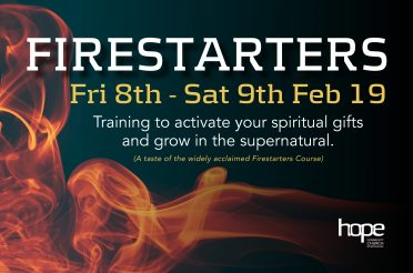 Firestarters Conference:  Friday 8 – Saturday 9 Feb 19