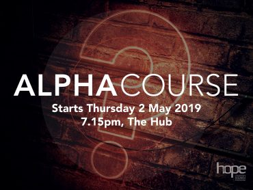 Alpha Course – May 2019
