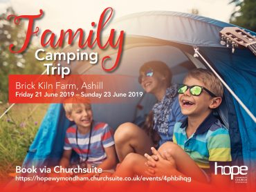 Church Family Camping Trip, Fri 21 – Sun 23 June 19