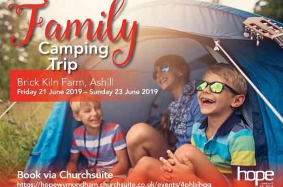 Church Family Camping Trip, Fri 21 – Sun 23 June 19