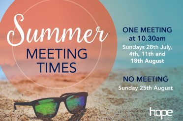 Summer 2019 – Sunday Meeting Times