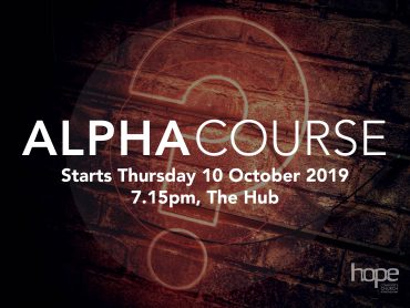 Alpha Course – October 2019